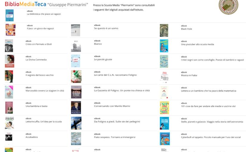 eBook con restrizioni d'uso consultabili presso il BiblioPoint Piermarini